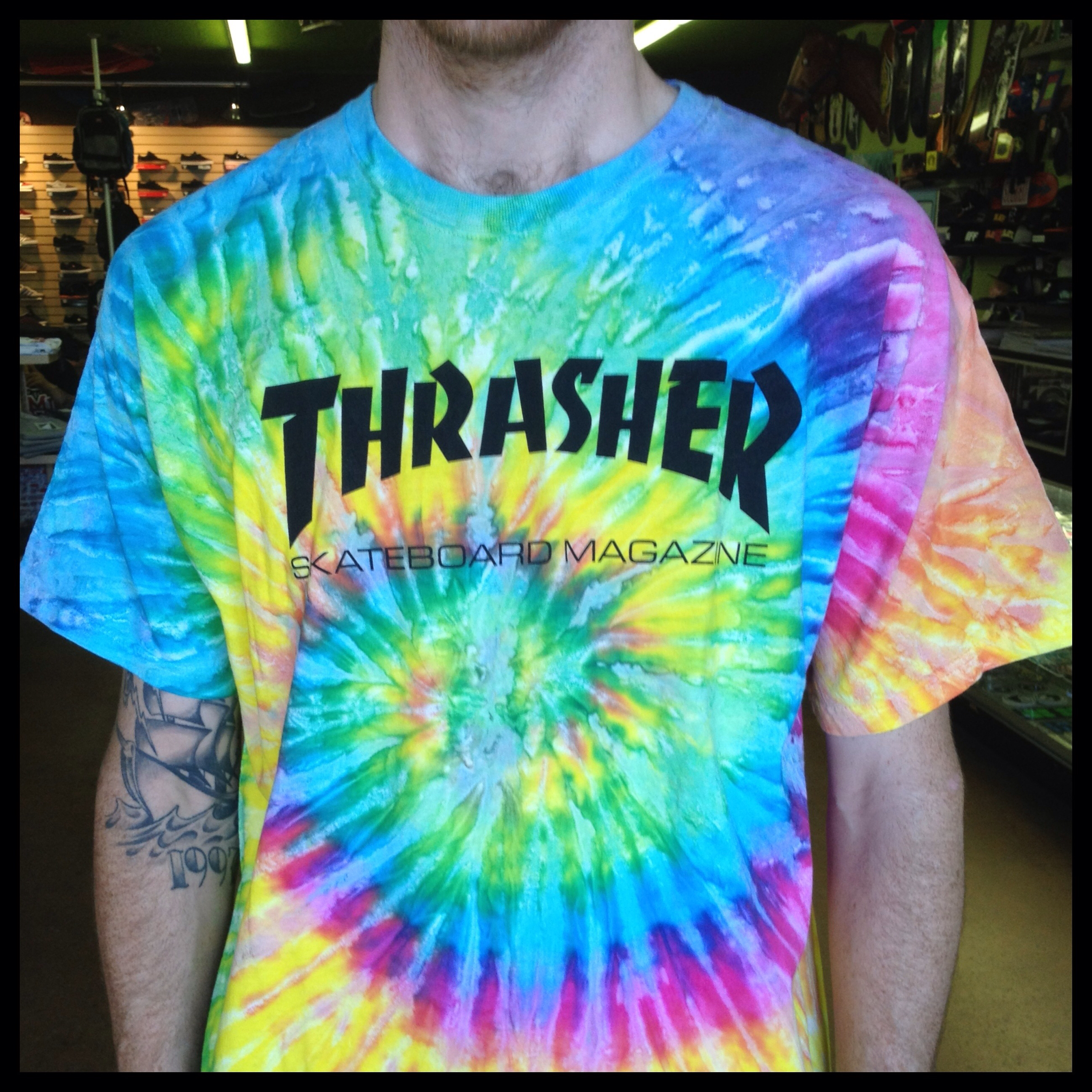 thrasher tie dye shirt photo - 1