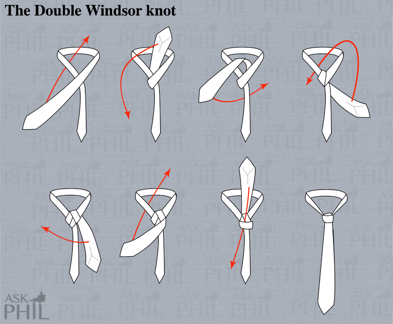 tie a double windsor photo - 1
