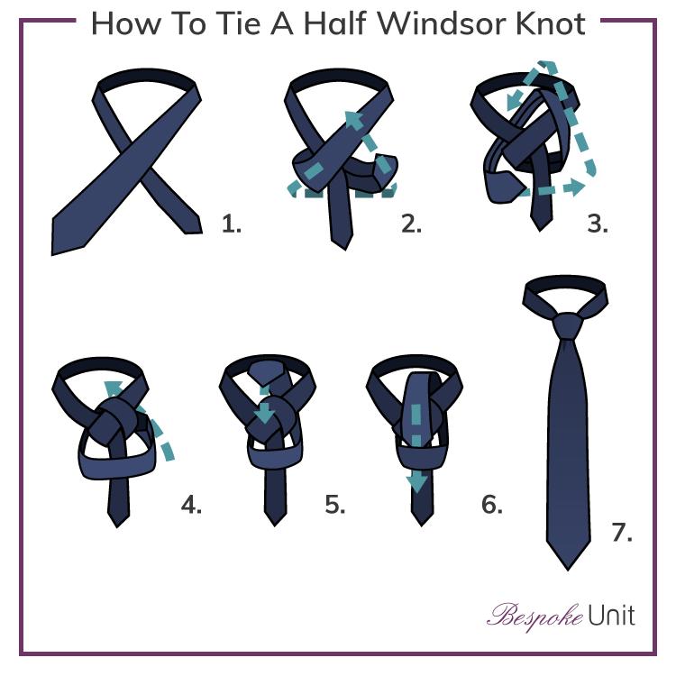tie a half windsor photo - 1