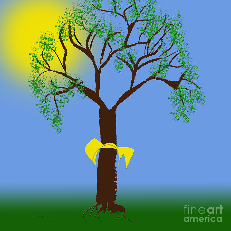 tie a yellow ribbon round the old oak tree photo - 1