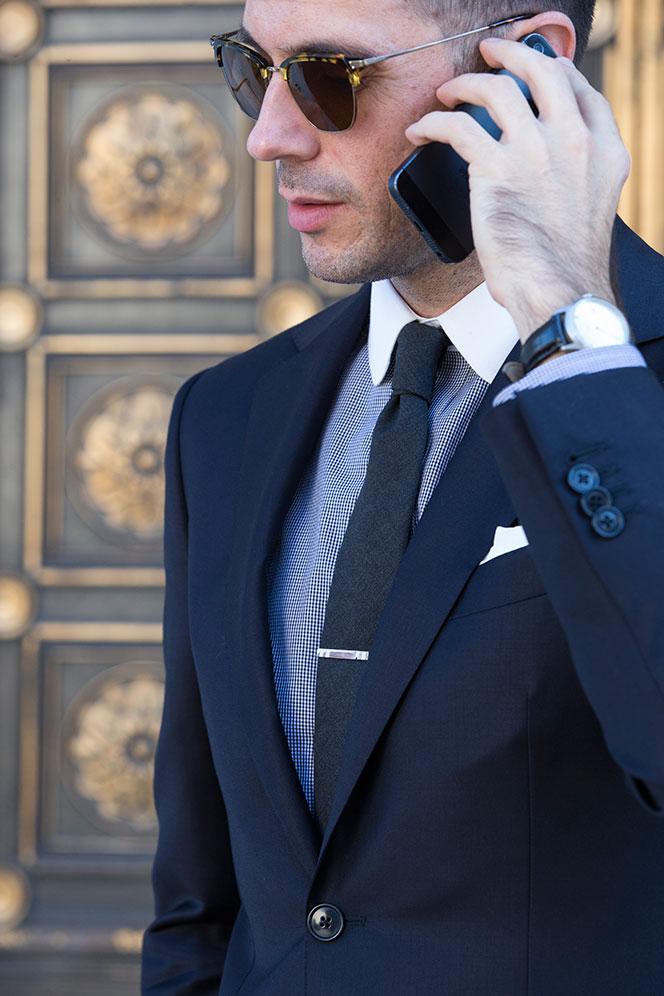 tie clip with vest photo - 1