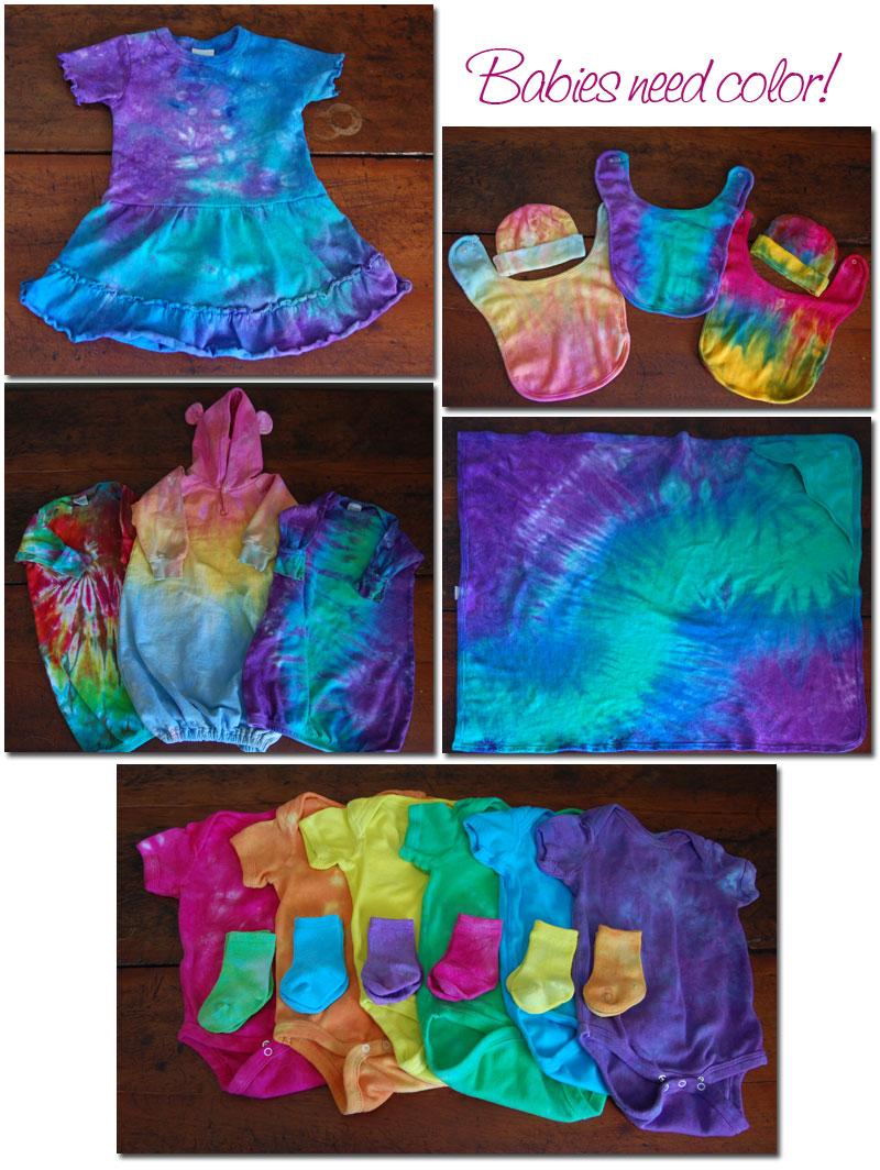 tie dye baby clothes photo - 1