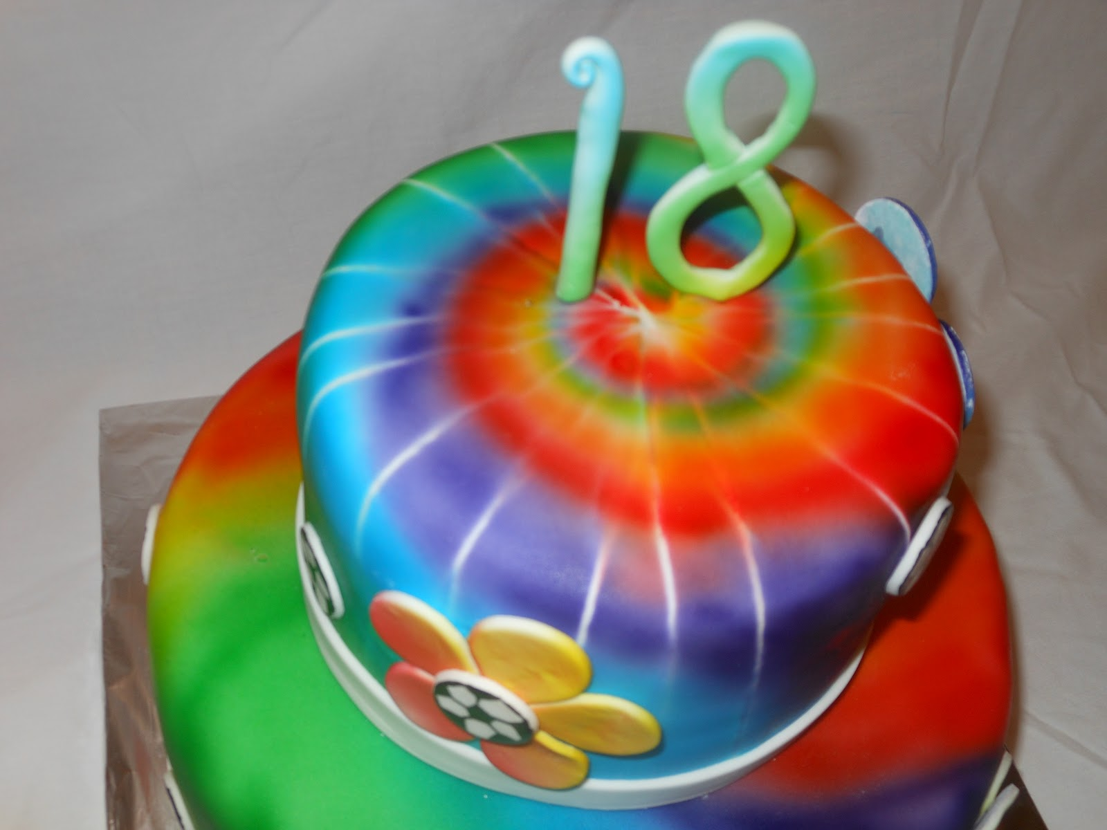 tie dye birthday cake photo - 1