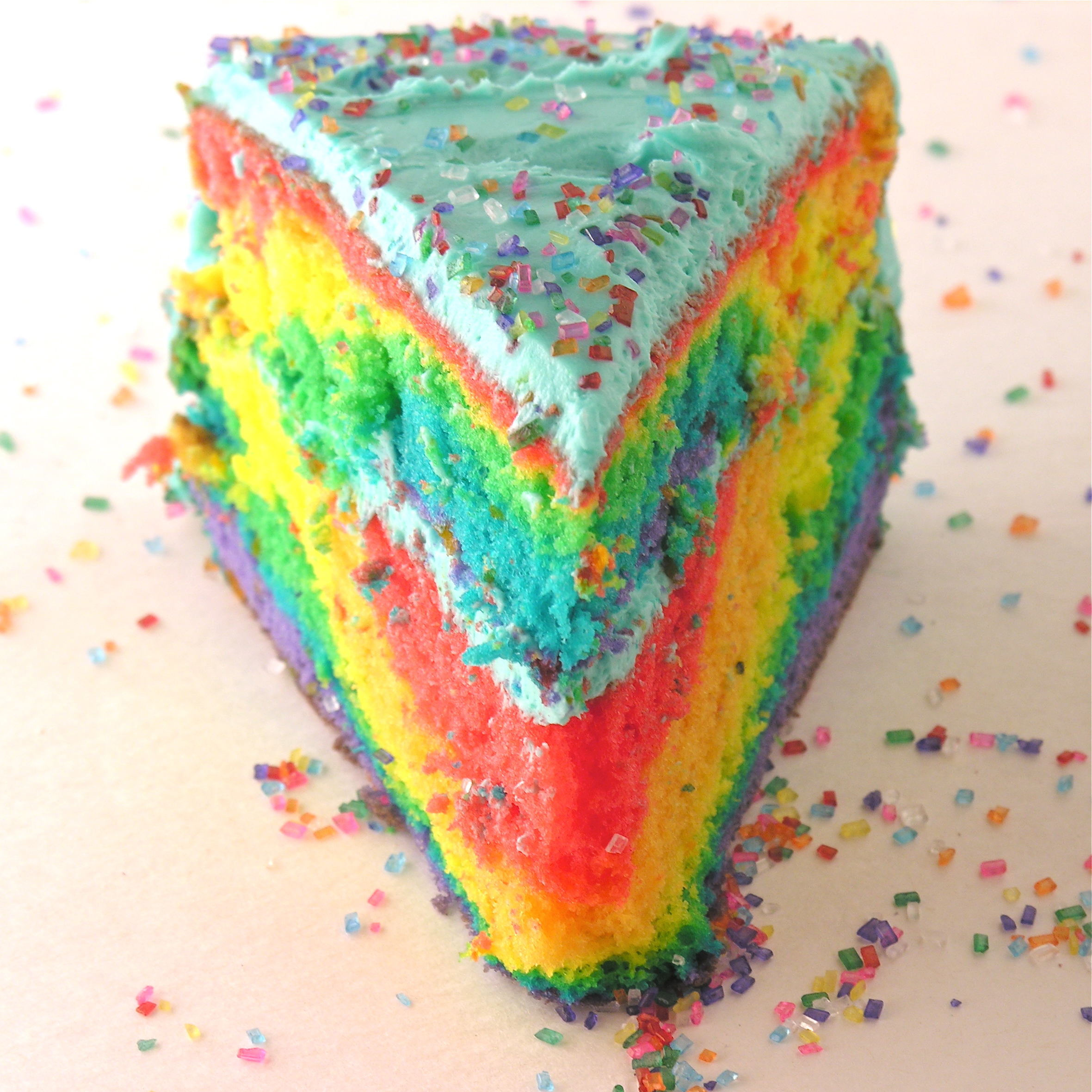tie dye cake frosting photo - 1