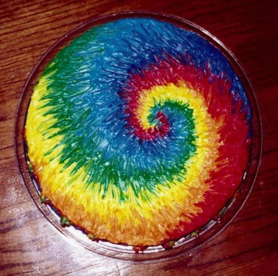 tie dye cakes photo - 1