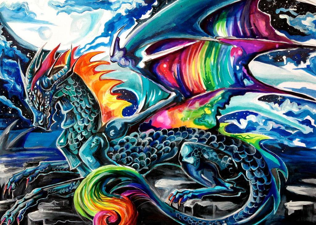 tie dye dragon photo - 1