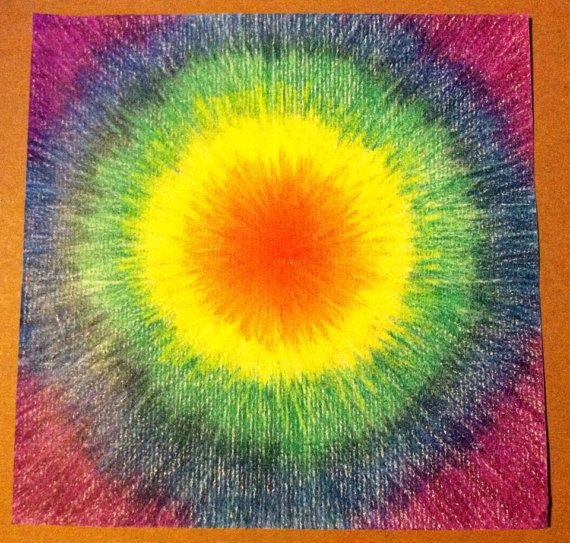 tie dye drawing photo - 1