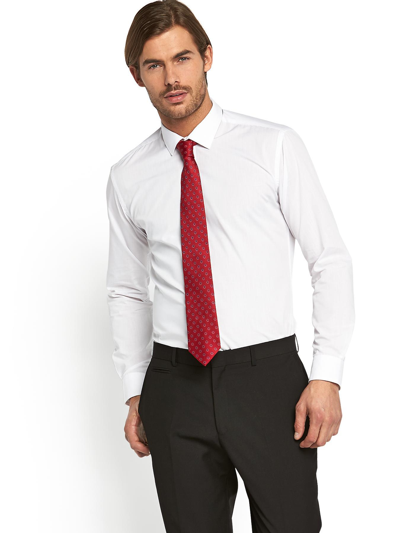 5943bb1c9 Black Shirt Gray Pants Red Tie