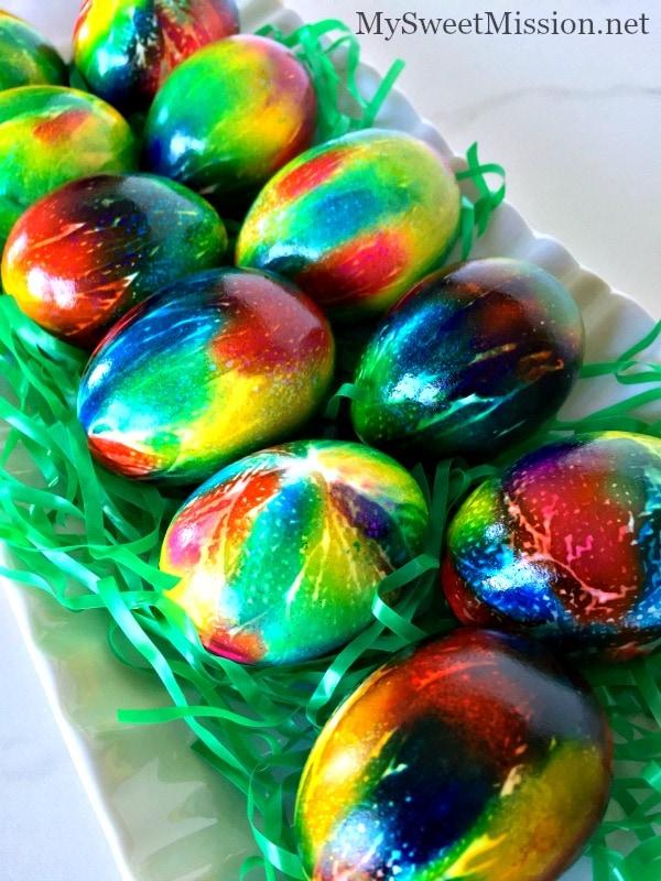 tie dye easter eggs photo - 1