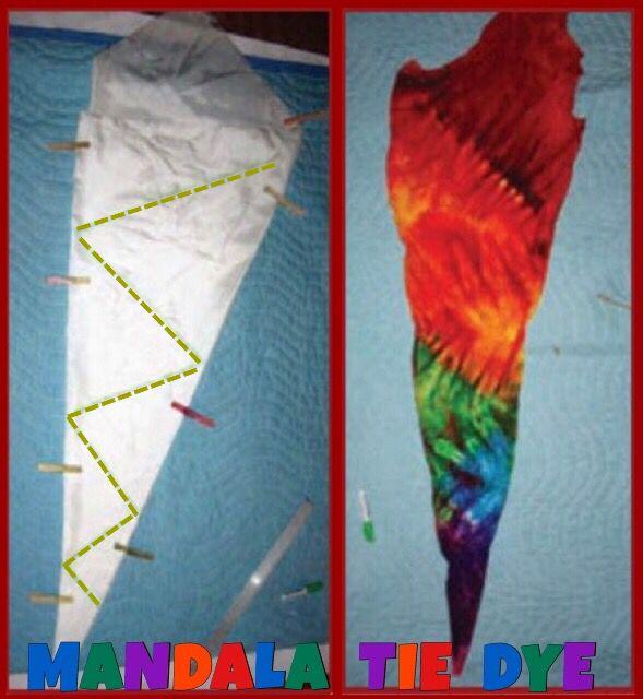 tie dye folding techniques mandala photo - 1