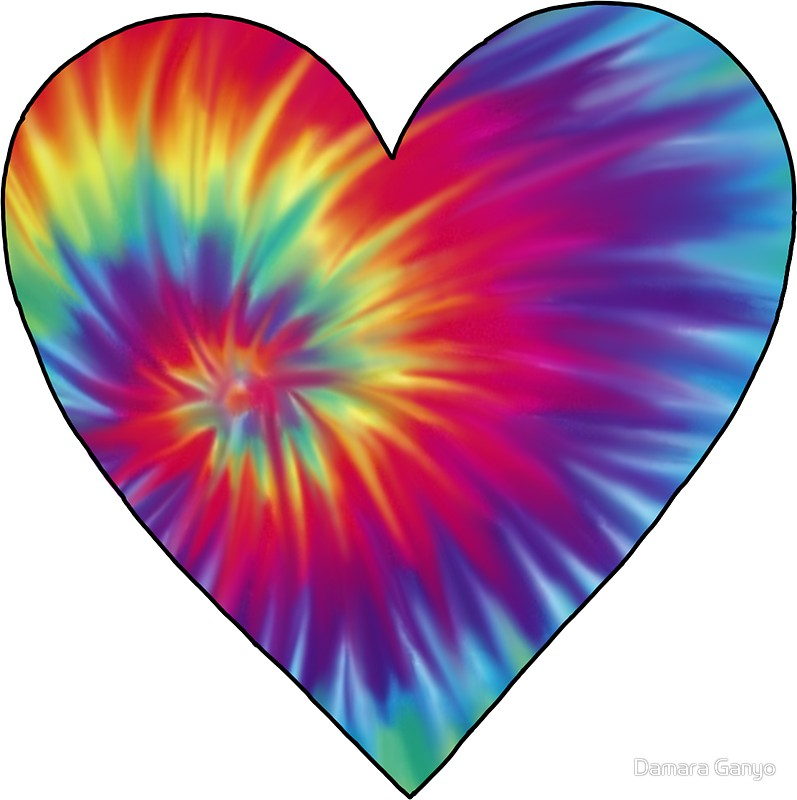 tie dye heart photo - 1