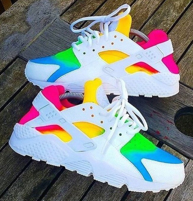 tie dye huaraches photo - 1
