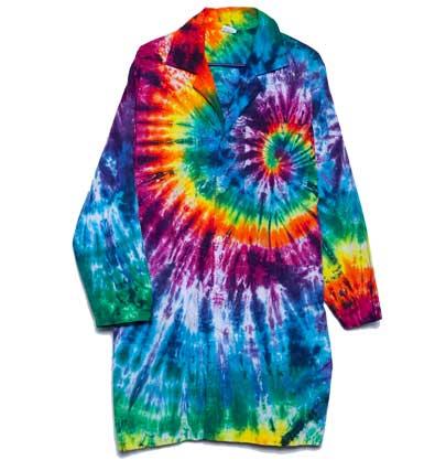 tie dye lab coat photo - 1