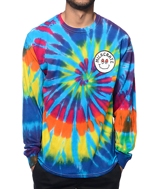 tie dye long sleeve t shirts photo - 1