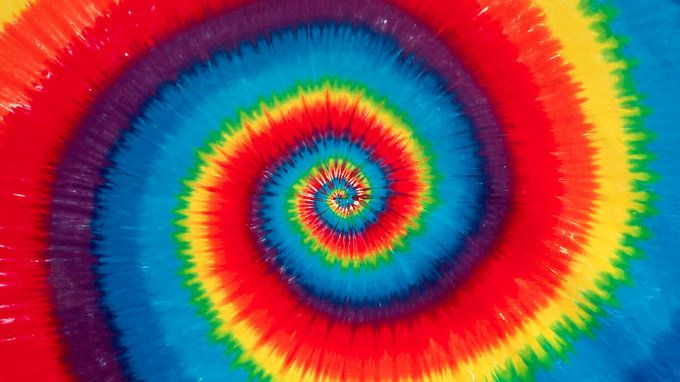 tie dye pattern photo - 1
