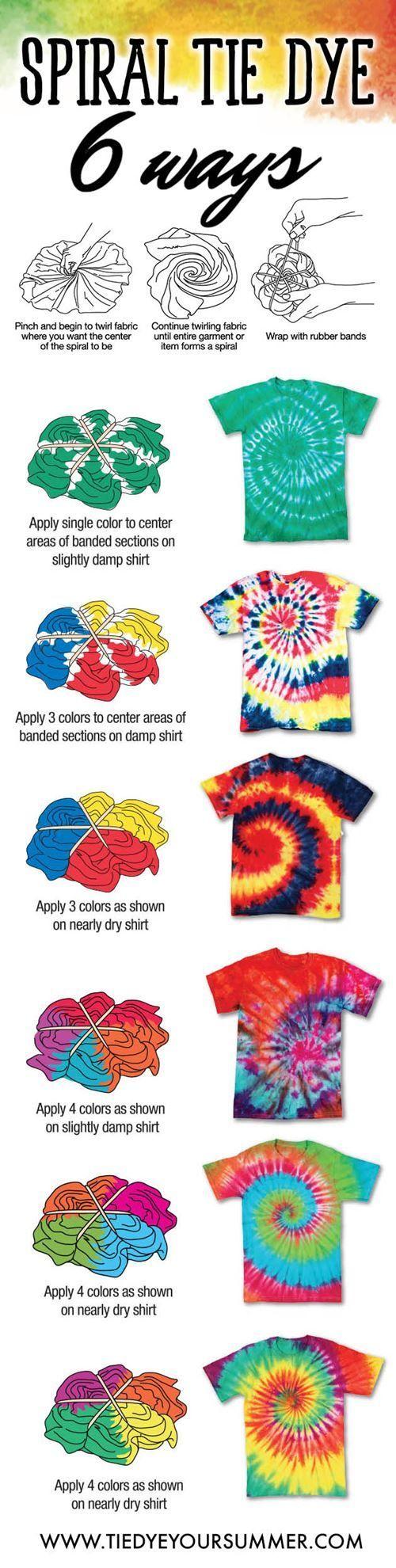tie dye pattern instructions photo - 1