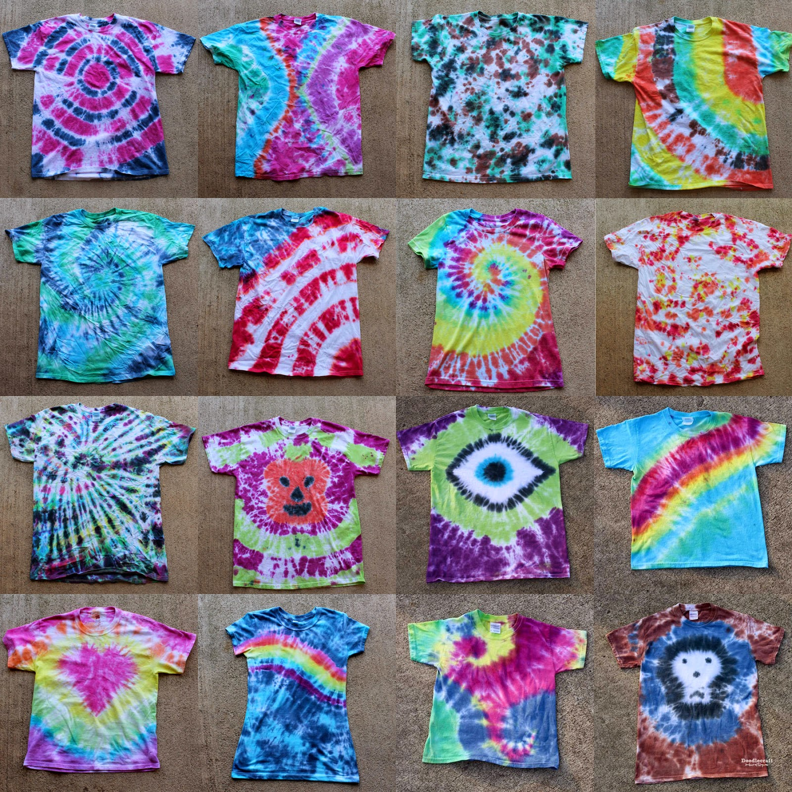 tie dye patterns for shirts photo - 1