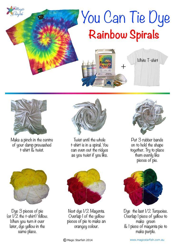 tie dye patterns instructions photo - 1