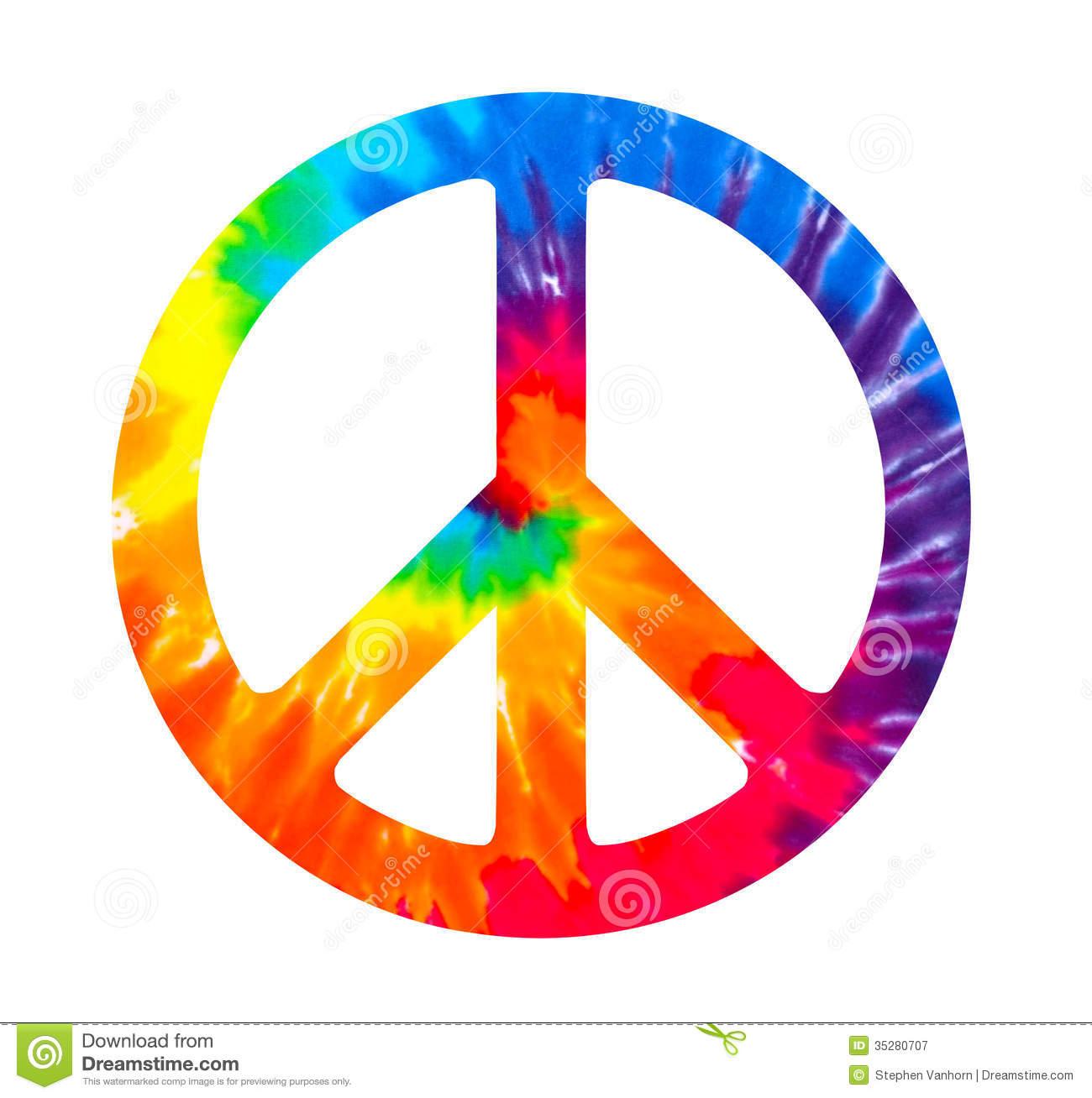 tie dye peace sign photo - 1