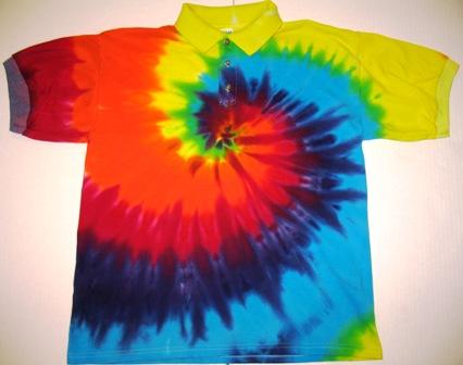 tie dye polo shirt photo - 1