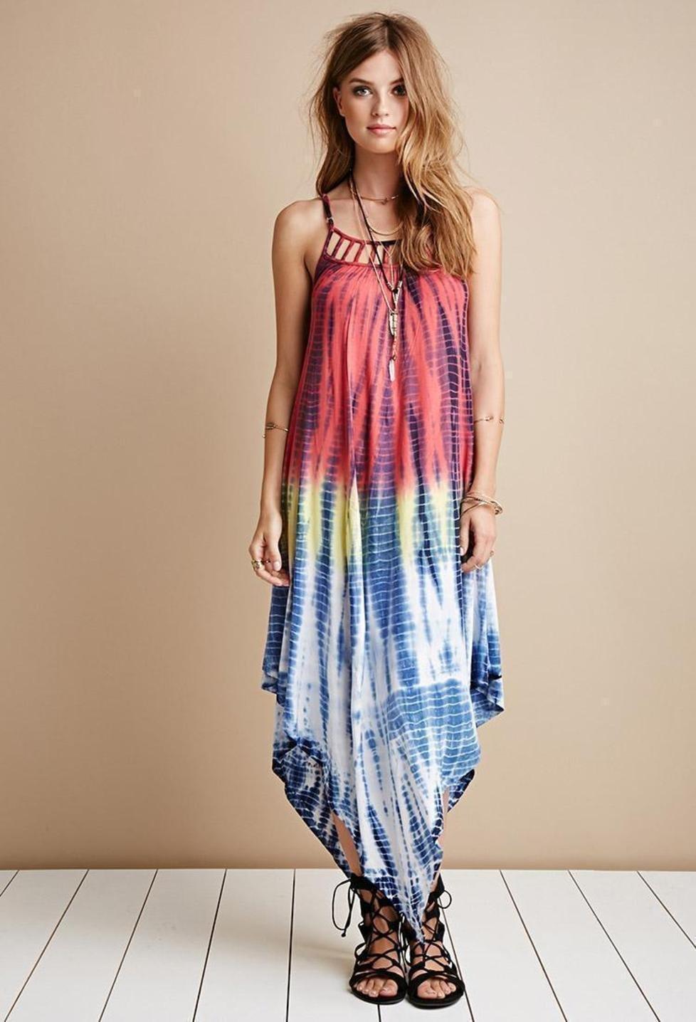 tie dye summer dresses photo - 1