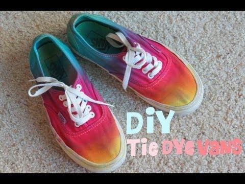 tie dye vans shoes photo - 1
