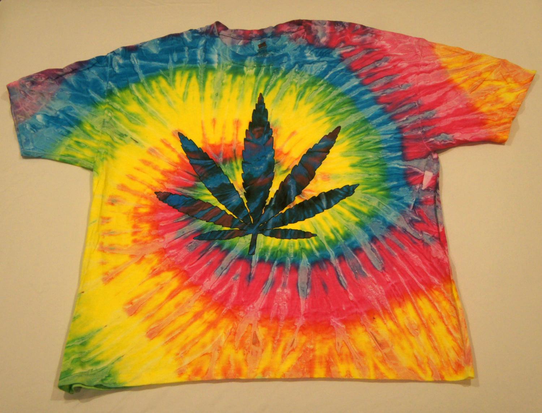 tie dye weed shirt photo - 1