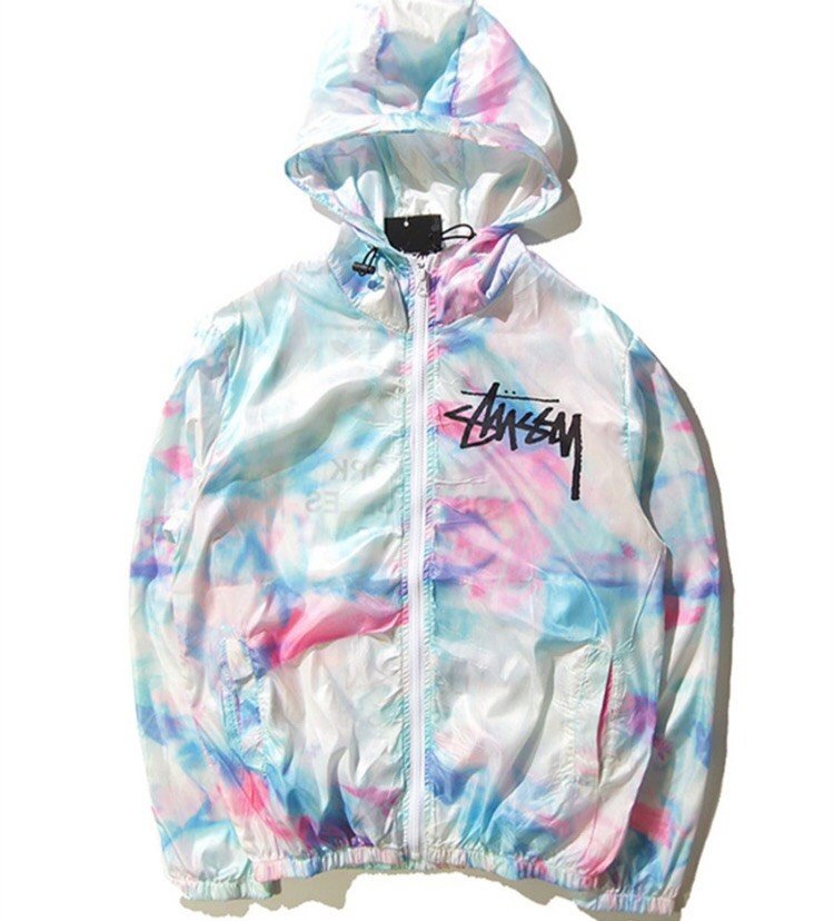 tie dye windbreaker photo - 1