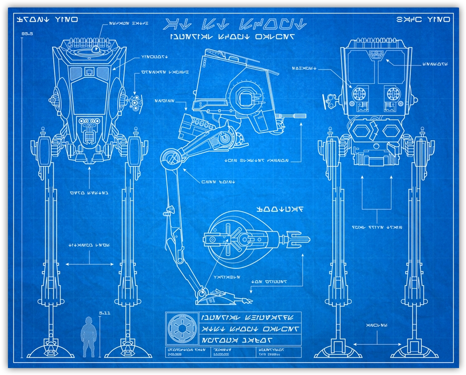 tie fighter blueprint photo - 1