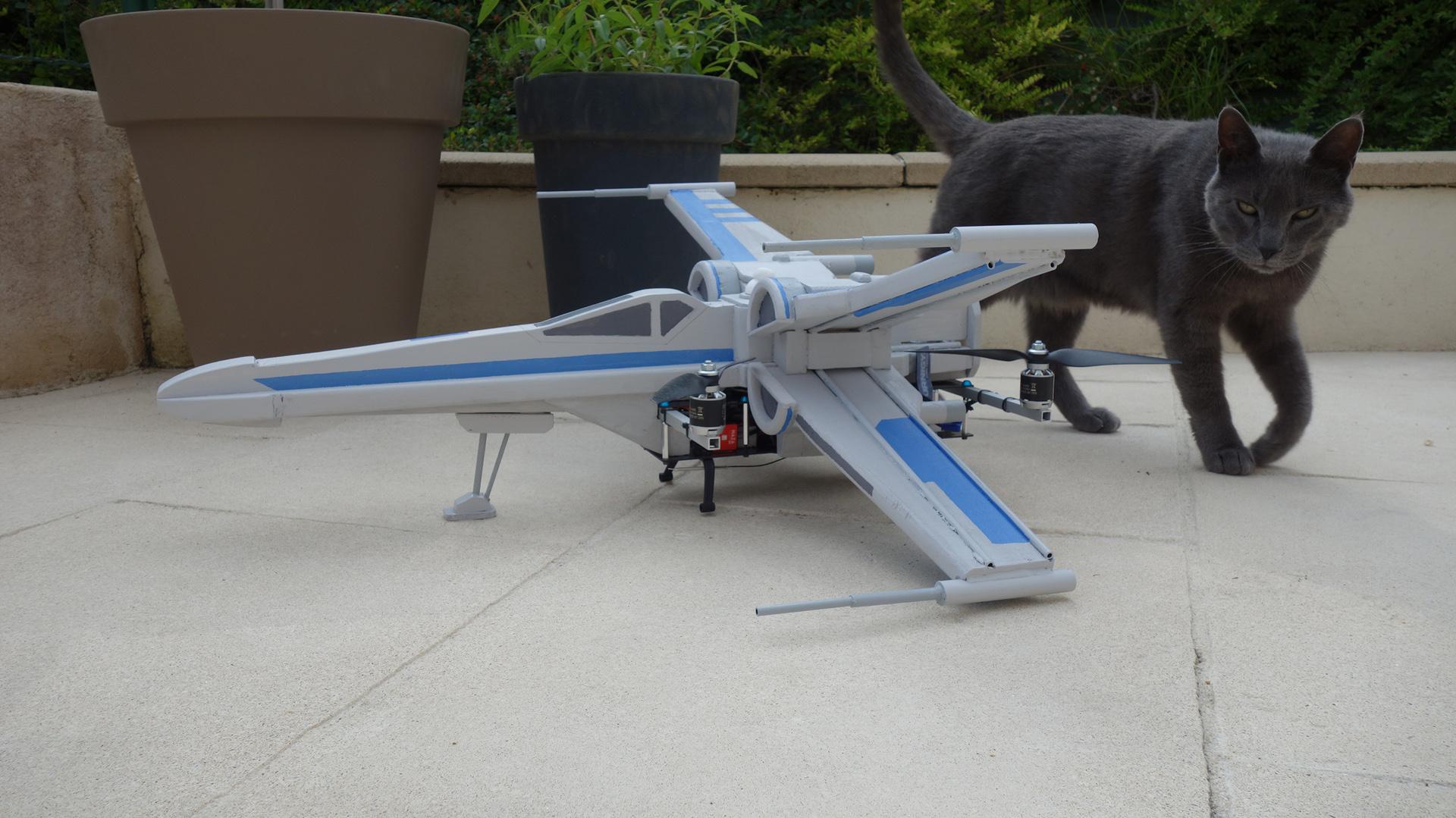 tie fighter drone photo - 1