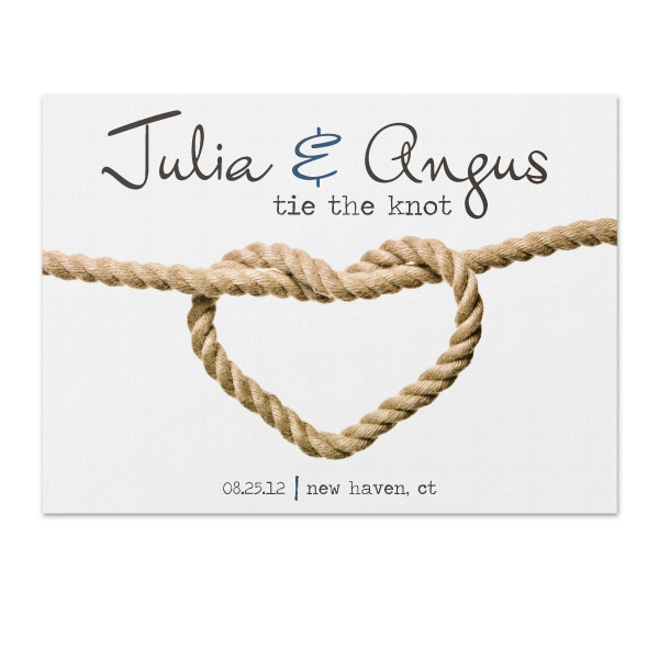 tie the knot save the date photo - 1