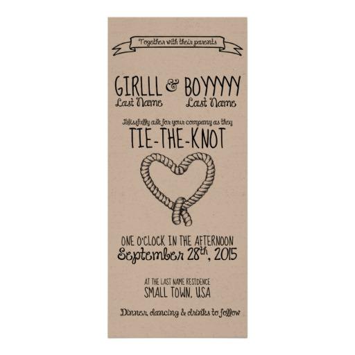 tie the knot wedding invitations photo - 1