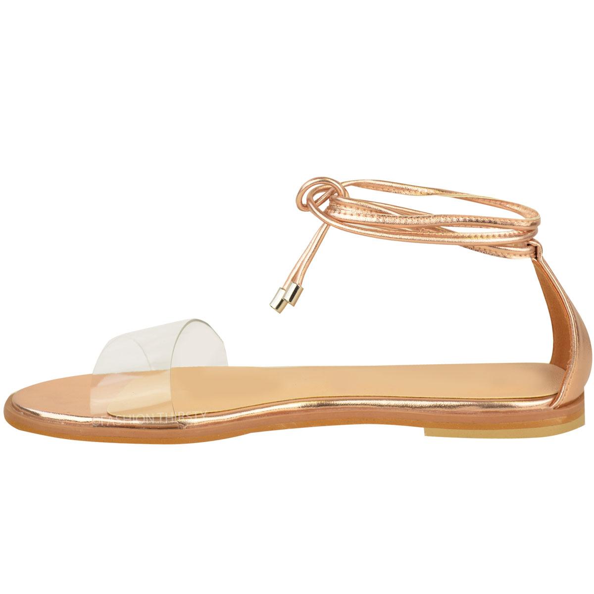 tie up flat sandals photo - 1