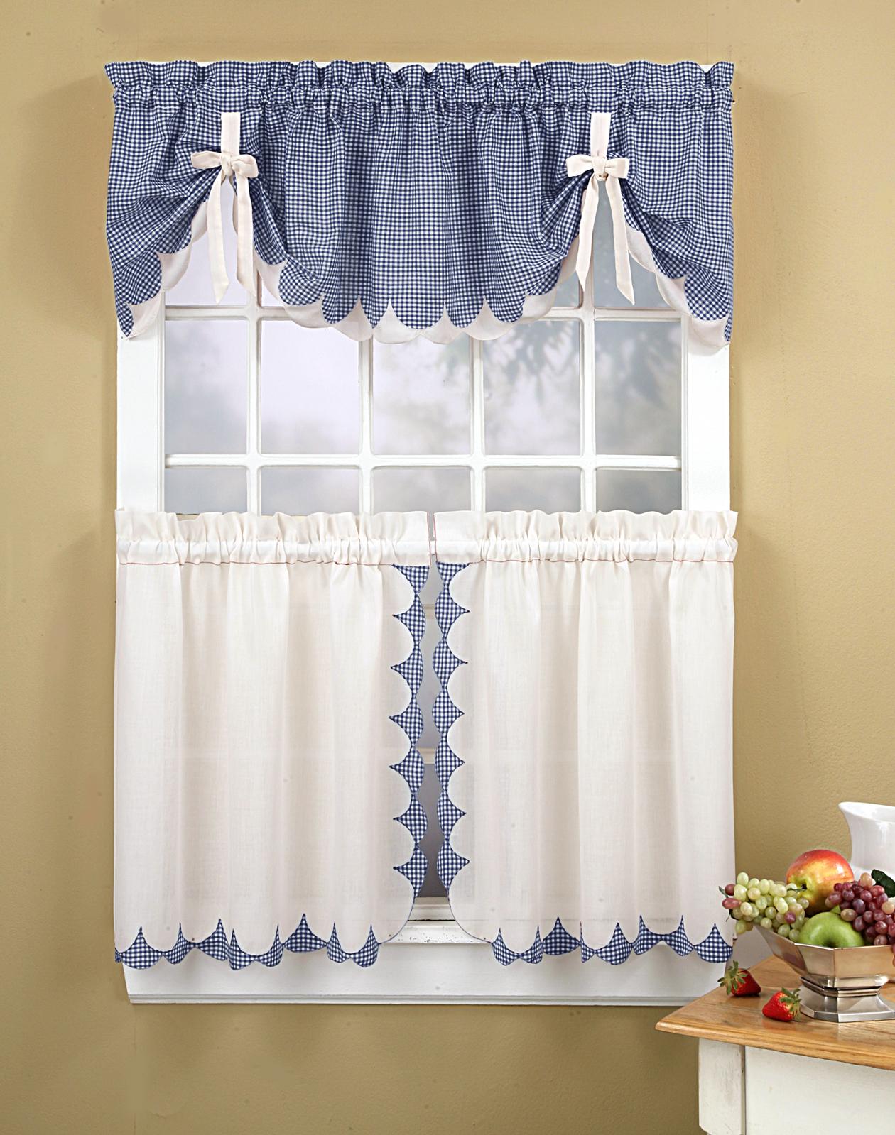 tie up kitchen curtains photo - 1