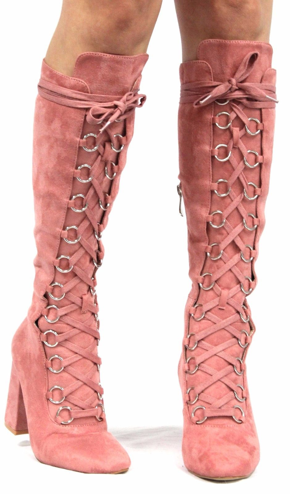 tie up knee high boots photo - 1
