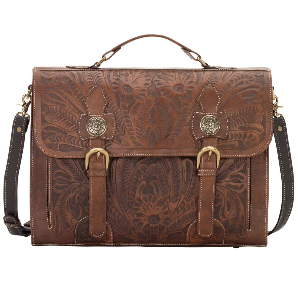 tooled leather briefcase photo - 1