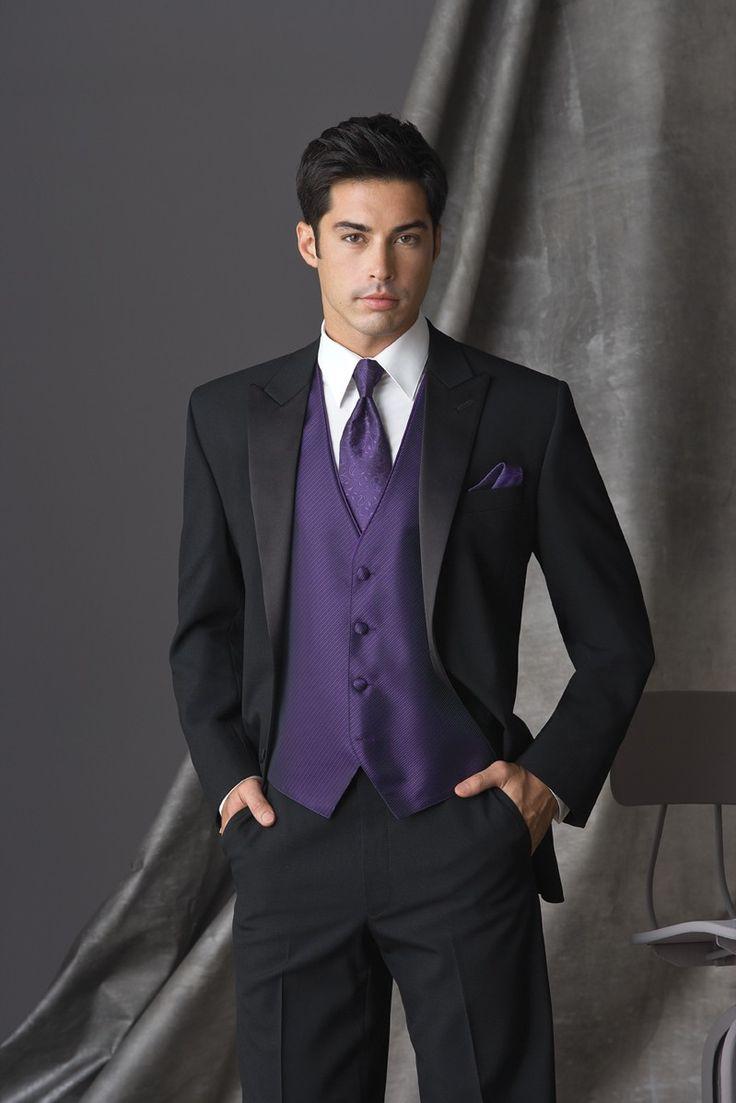tuxedo with long tie photo - 1