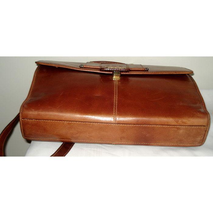 umi leather briefcase photo - 1
