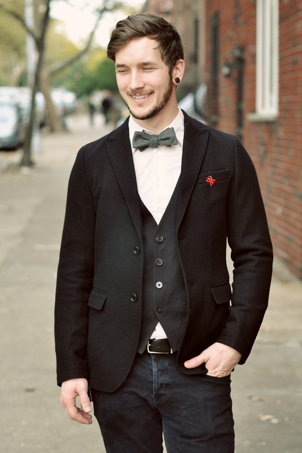 vest and bow tie combo photo - 1