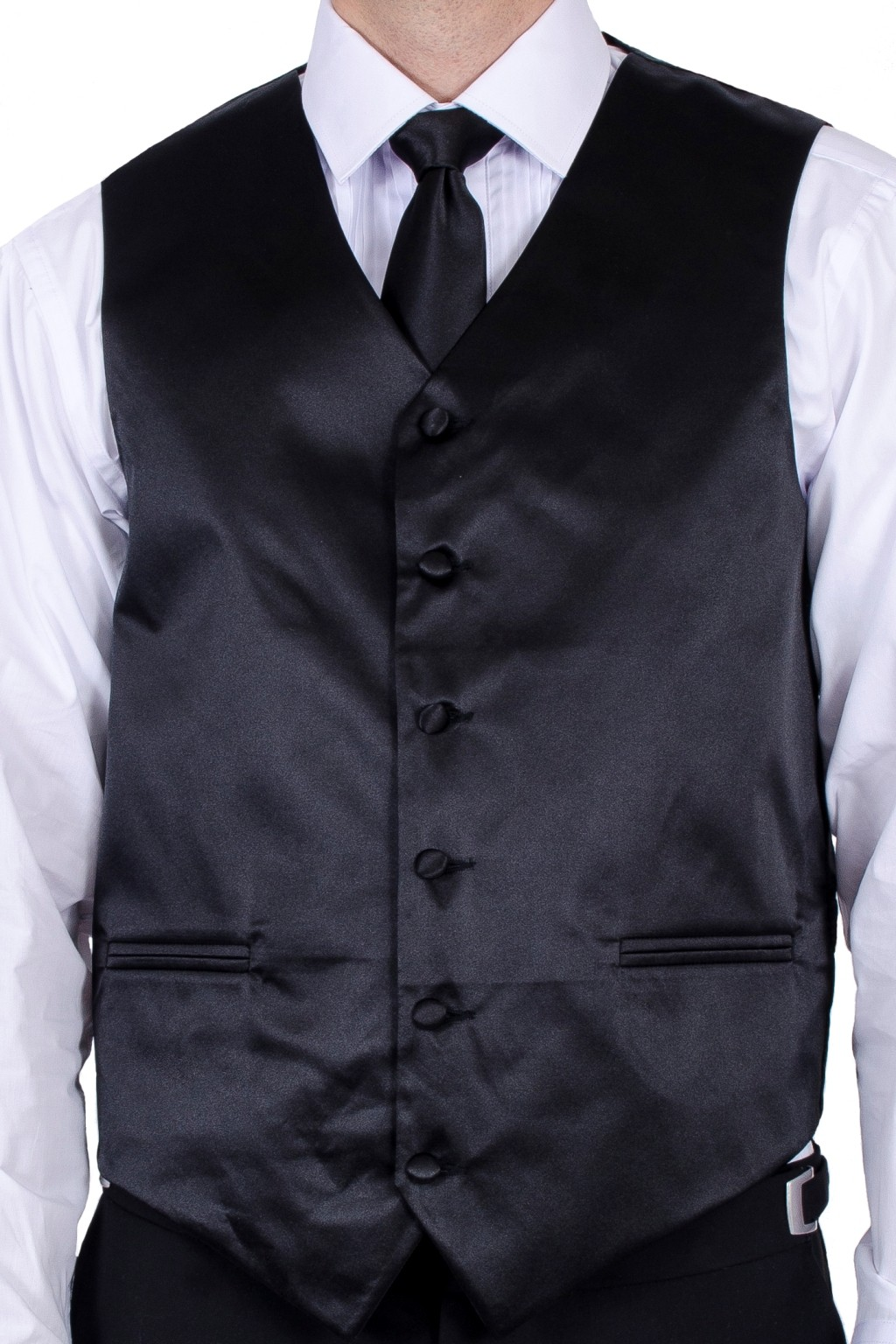 vest with tie photo - 1