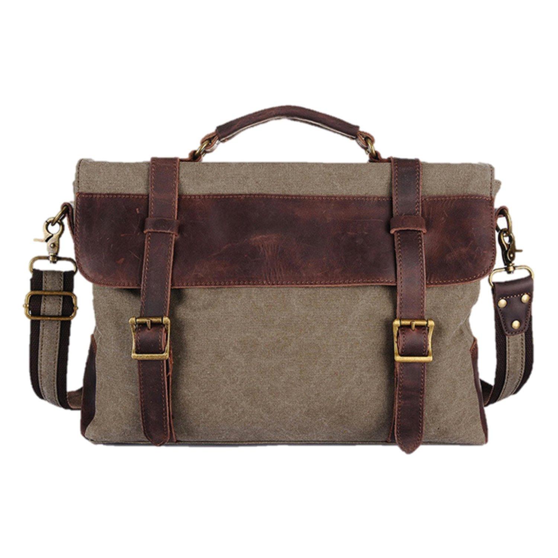 waxed canvas briefcase photo - 1