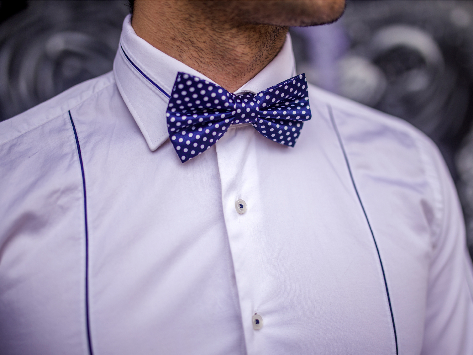 wearing a bow tie photo - 1