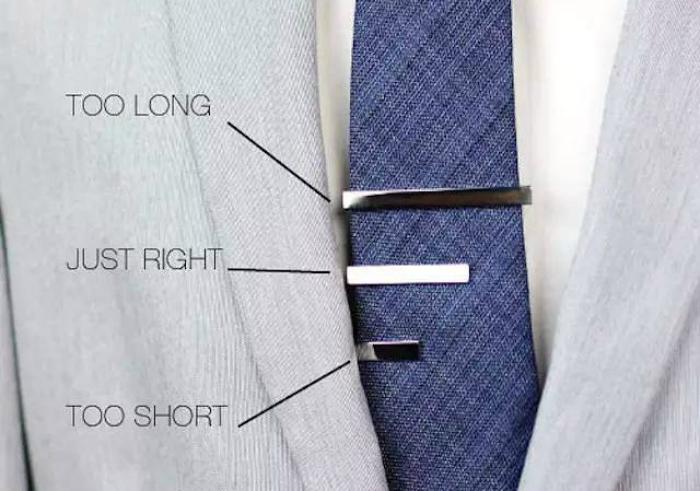 where do tie clips go photo - 1