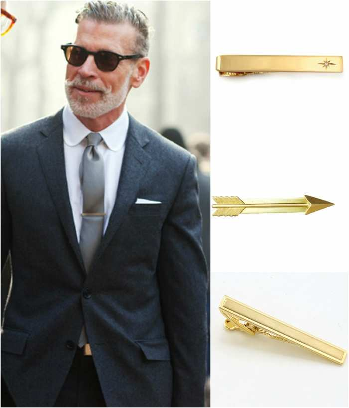 where to put tie clip photo - 1