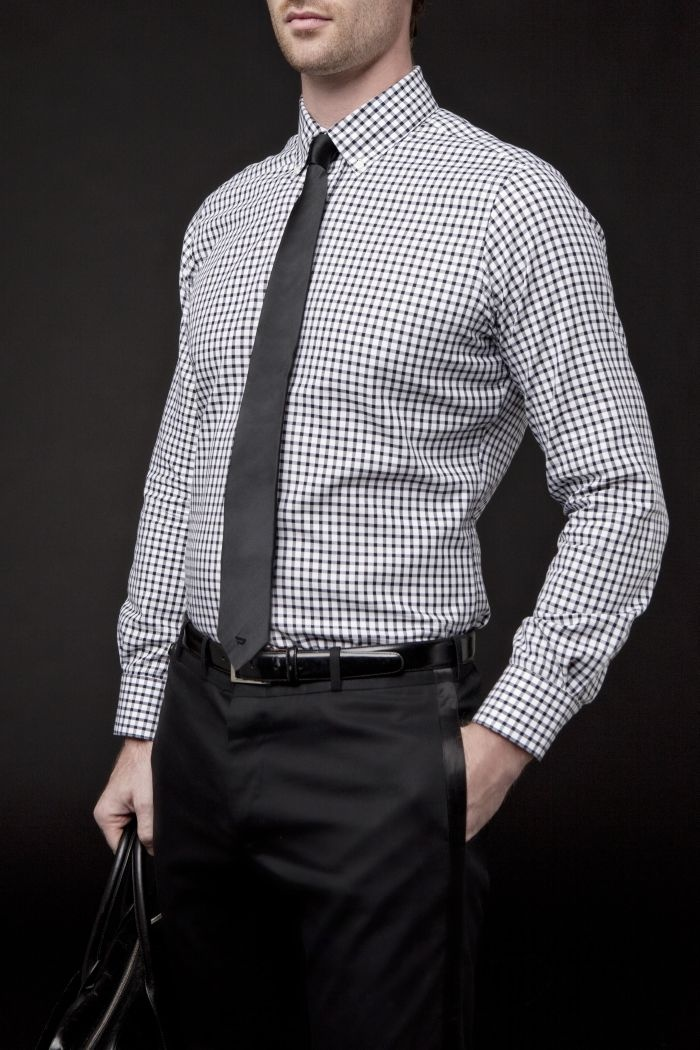 white dress shirt and tie to office photo - 1