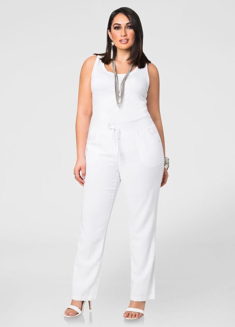 white linen suit for women plus size photo - 1