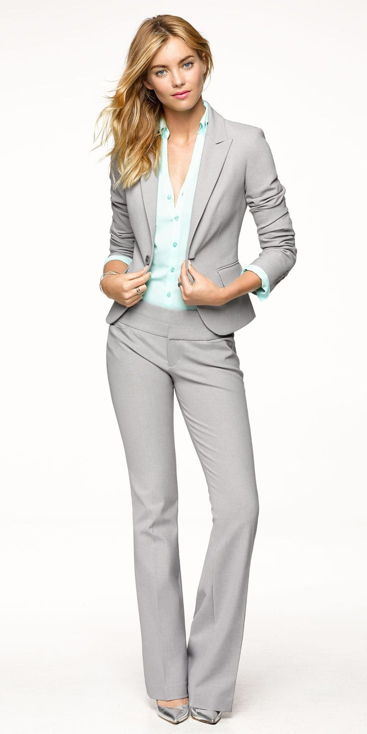 white pant suit for women photo - 1