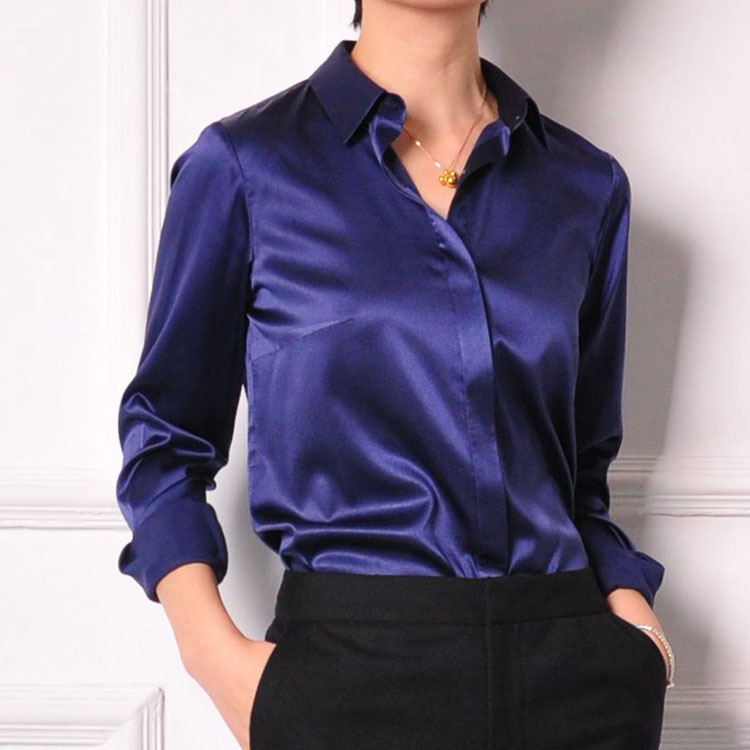 women office silk shirt photo - 1
