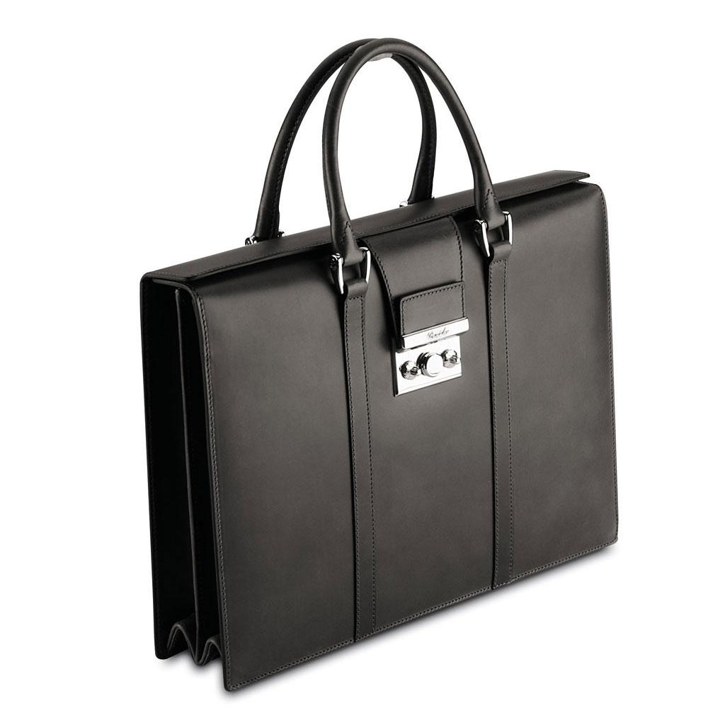 womens black briefcase photo - 1