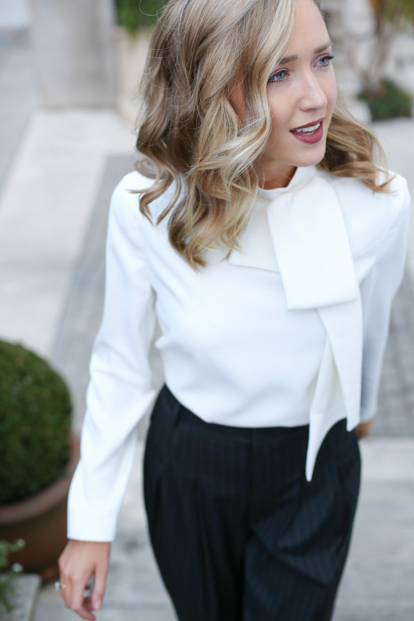 cf2715a0ad7d9a Womens bow tie neck blouse - woltermanortho.com